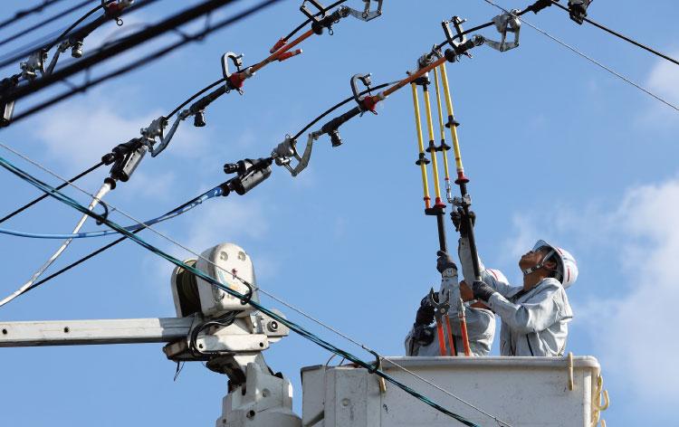 ④配電線工事